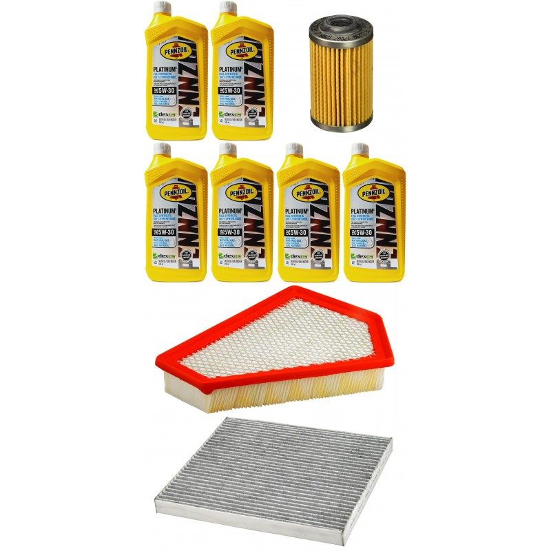 PENNZOIL 5W30 6L + FILTRY CADILLAC CTS 3,0 10-14