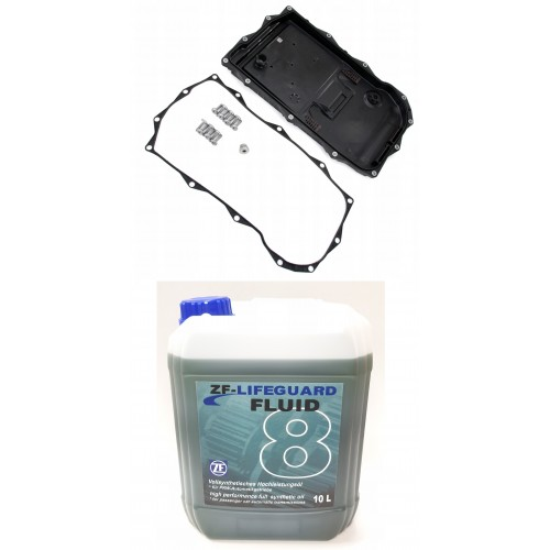 ZF LIFEGUARD FLUID 8 10L + OIL PAN ZF 8HP45/8HP70 (SHALLOW)