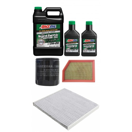 AMSOIL 0W20 ASM 6L + FILTRY JEEP CHEROKEE 2,4 14-18
