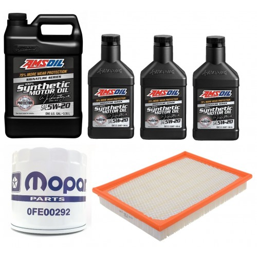 AMSOIL 5W20 ALM 6,6L + FILTRY JEEP GRAND CHEROKEE 5,7 05-07