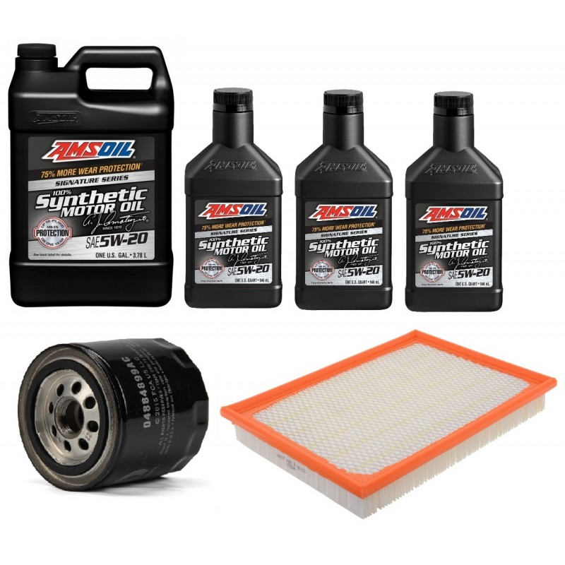 AMSOIL 5W20 ALM 6,6L + FILTRY JEEP GRAND CHEROKEE 5,7 2010