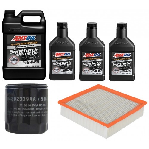 AMSOIL 5W20 ALM 6,6L +FILTRY JEEP GRAND CHEROKEE 5,7 16-20