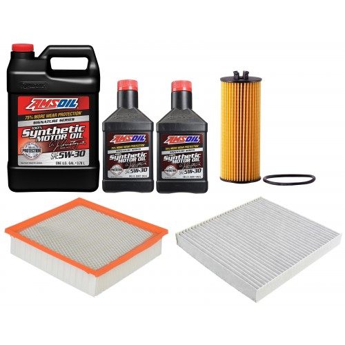 AMSOIL 5W30 ASL 5,67L + FILTRY JEEP GRAND CHEROKEE 3,6 11-12