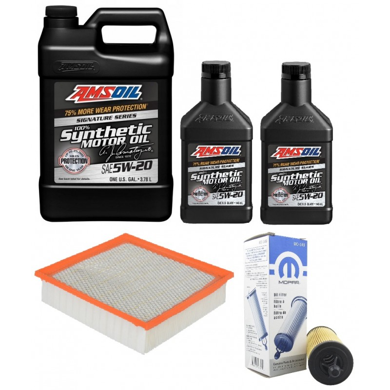 AMSOIL 5W20 ALM 5,72L+ FILTRY JEEP GRAND CHEROKEE 3,6 14-15