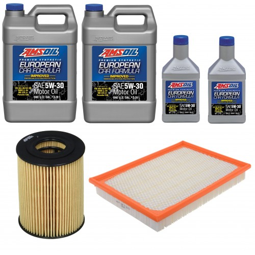 AMSOIL 5W30 AEL 9,45L + FILTRY JEEP GRAND CHEROKEE 3,0 07-09